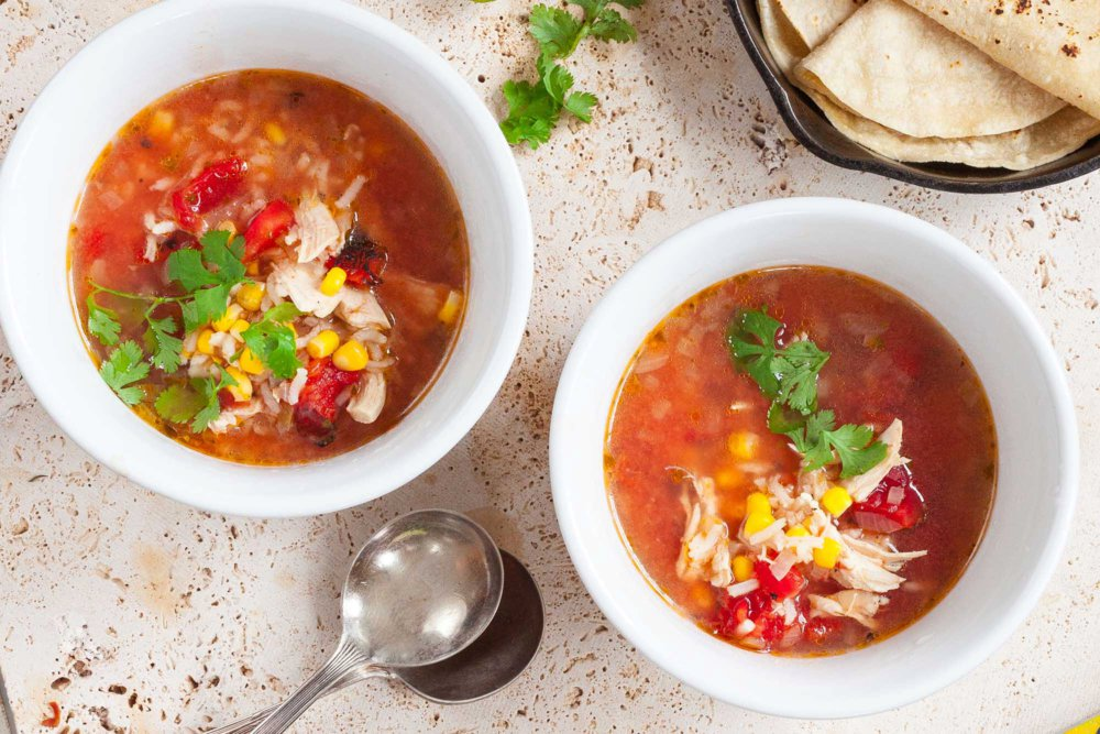 Easy Mexican Chicken and Rice Soup
