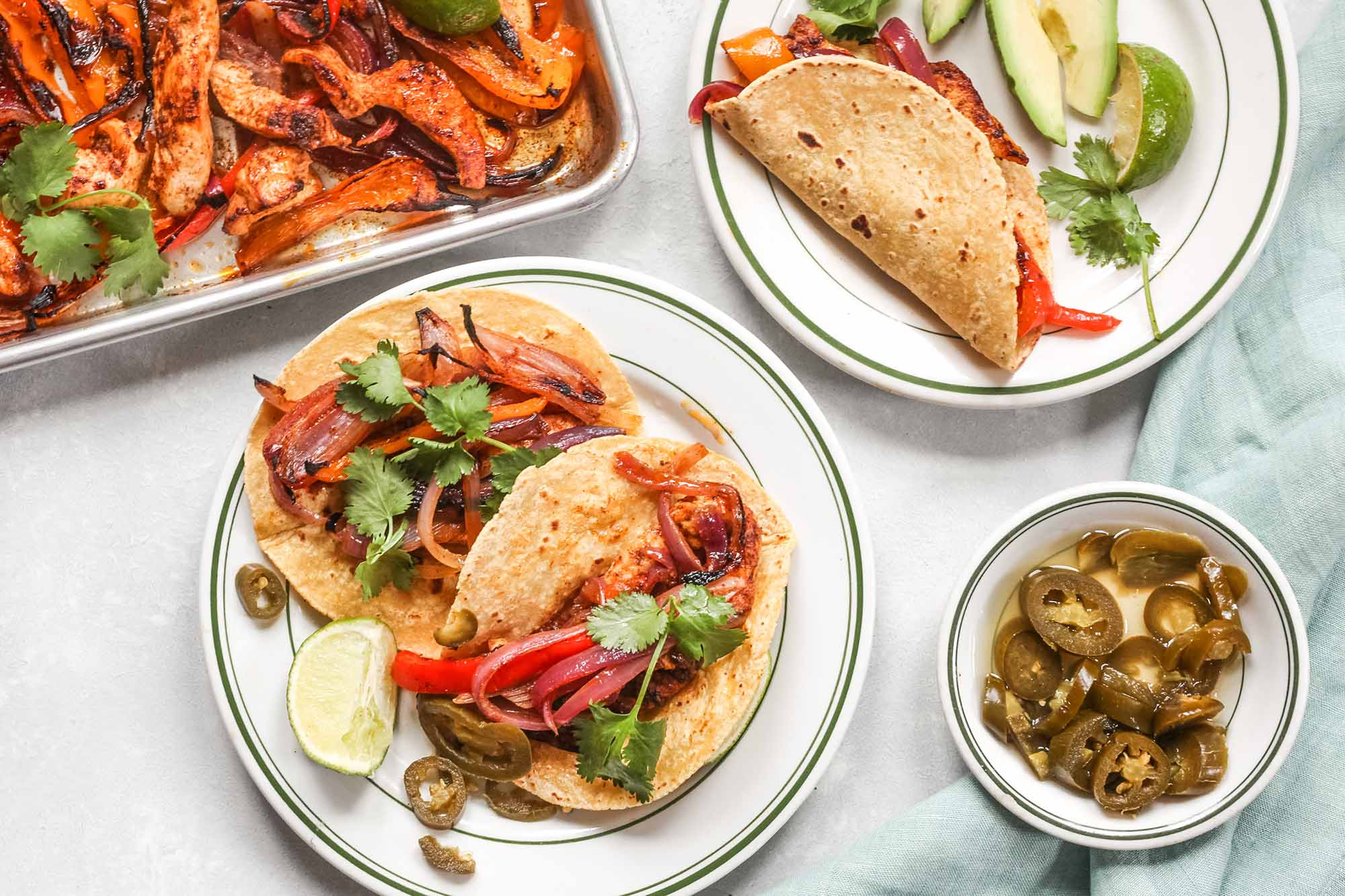 Sheet Pan Chicken Fajitas with Peppers and Onions